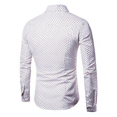 Stylish Long-sleeved Men ShirtsMens Shirts<br>Stylish Long-sleeved Men Shirts<br><br>Material: Cotton, Polyester<br>Package Contents: 1 x Men Shirts<br>Package size: 40.00 x 30.00 x 3.00 cm / 15.75 x 11.81 x 1.18 inches<br>Package weight: 0.2700 kg<br>Product weight: 0.2200 kg