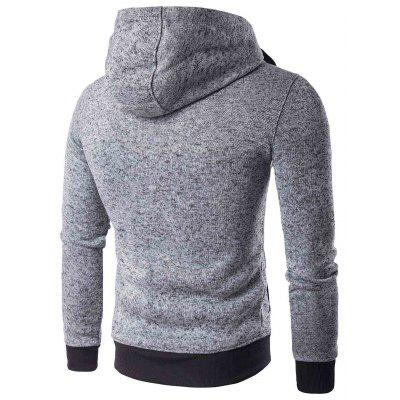 Fashion Male Casual Knit Hooded SweatshirtMens Hoodies &amp; Sweatshirts<br>Fashion Male Casual Knit Hooded Sweatshirt<br><br>Material: Cotton<br>Package Contents: 1 x Men Sweatshirt<br>Package size: 20.00 x 20.00 x 2.00 cm / 7.87 x 7.87 x 0.79 inches<br>Package weight: 0.4500 kg<br>Product weight: 0.4000 kg