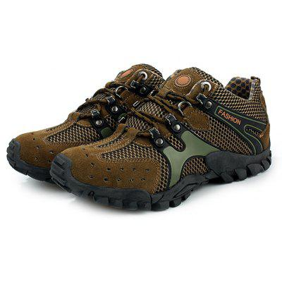 Buy ARMY GREEN 44 Male Breathable Anti Slip Outdoor Hiking Sneakers for $29.50 in GearBest store