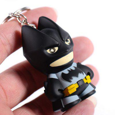 50LM LED Keychain Flashlight with Sound Figure Keyring