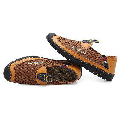 Male Casual Slip On Mesh Soft Flat Leather ShoesCasual Shoes<br>Male Casual Slip On Mesh Soft Flat Leather Shoes<br><br>Closure Type: Slip-On<br>Contents: 1 x Pair of Shoes<br>Decoration: Hollow Out<br>Function: Slip Resistant<br>Materials: Genuine Leather, Mesh, Rubber<br>Occasion: Shopping, Outdoor Clothing, Holiday, Daily, Casual<br>Outsole Material: Rubber<br>Package Size ( L x W x H ): 33.00 x 22.00 x 11.00 cm / 12.99 x 8.66 x 4.33 inches<br>Pattern Type: Stripe, Letter<br>Seasons: Autumn,Spring,Summer<br>Style: Casual<br>Toe Shape: Round Toe<br>Type: Casual Leather Shoes<br>Upper Material: Genuine Leather