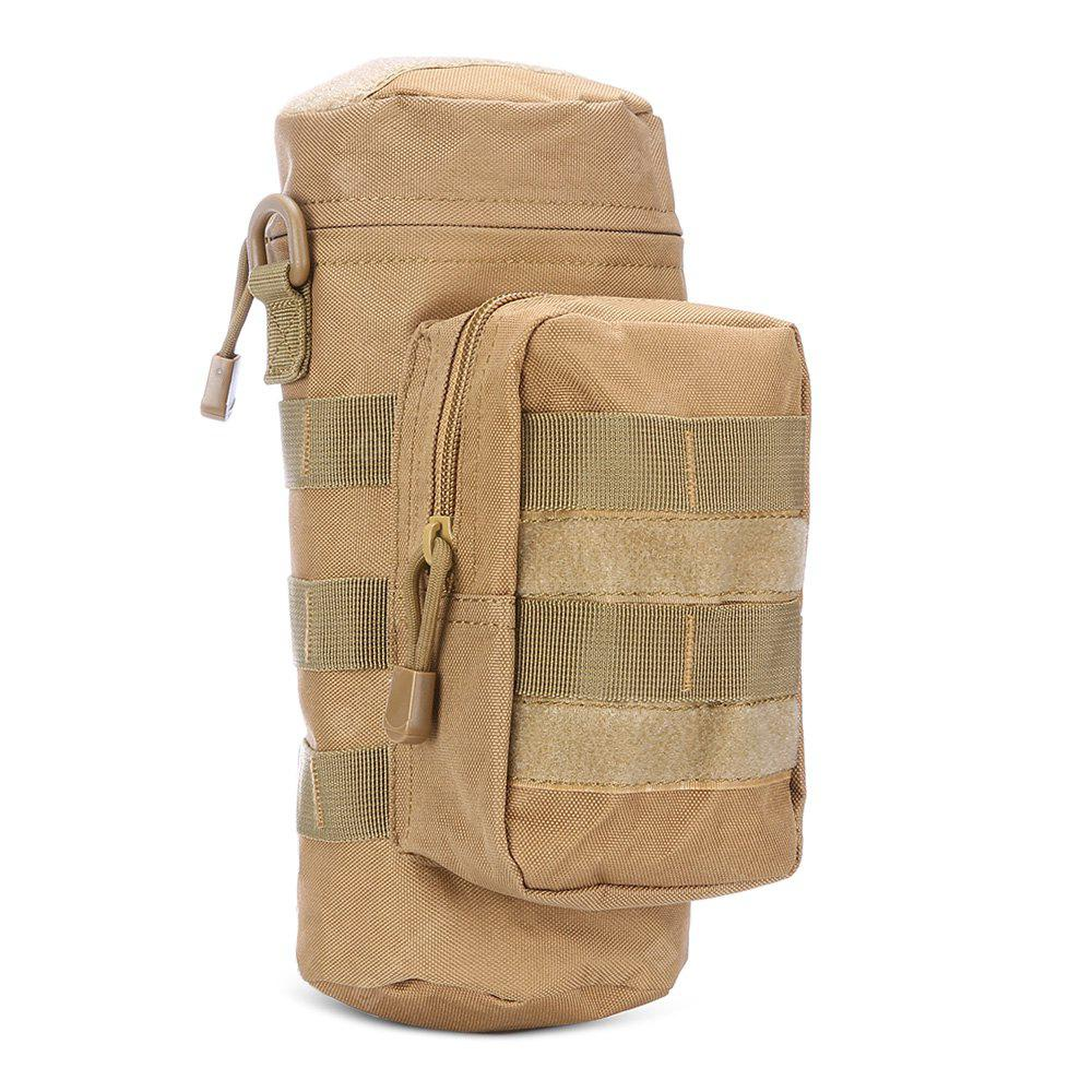 Tactical Water Bottle Bag Nylon 2-pocket Pouch MOLLE System