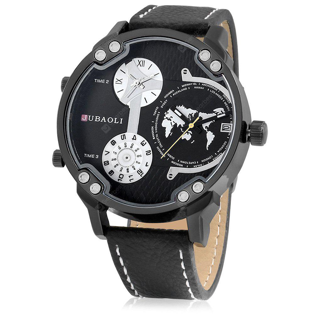 JUBAOLI 1169 Men Watch with Leather Band