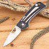 Sanrenmu B - 762 Pocket Stainless Steel Axis Lock Folding Knife - BLACK WHITE