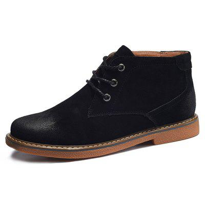 Genuine Leather Medium Top Martin Boots for MenMens Boots<br>Genuine Leather Medium Top Martin Boots for Men<br><br>Closure Type: Lace-Up<br>Contents: 1 x Pair of Shoes<br>Materials: Suede, Rubber<br>Outsole Material: Rubber<br>Package Size ( L x W x H ): 33.00 x 22.00 x 11.00 cm / 12.99 x 8.66 x 4.33 inches<br>Package Weights: 1.17kg<br>Seasons: Autumn,Spring<br>Style: Casual<br>Type: Boots<br>Upper Material: Suede