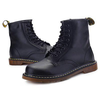 Men Stylish Genuine Leather Martin BootsMens Boots<br>Men Stylish Genuine Leather Martin Boots<br><br>Closure Type: Lace-Up<br>Contents: 1 x Pair of Shoes<br>Function: Slip Resistant<br>Materials: Rubber, Genuine Leather<br>Occasion: Casual<br>Outsole Material: Rubber<br>Package Size ( L x W x H ): 33.00 x 22.00 x 11.00 cm / 12.99 x 8.66 x 4.33 inches<br>Package Weights: 0.97kg<br>Seasons: Autumn,Spring<br>Style: Leisure, Casual<br>Type: Boots<br>Upper Material: Genuine Leather