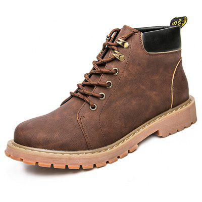 Men British Vintage High Top Martin Boots
