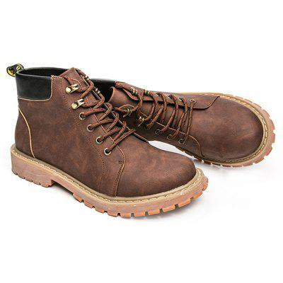 British Vintage High Top Martin Boots for MenMens Boots<br>British Vintage High Top Martin Boots for Men<br><br>Closure Type: Lace-Up<br>Contents: 1 x Pair of Shoes<br>Materials: Rubber, Genuine Leather<br>Occasion: Casual, Daily<br>Outsole Material: Rubber<br>Package Size ( L x W x H ): 33.00 x 22.00 x 11.00 cm / 12.99 x 8.66 x 4.33 inches<br>Package Weights: 0.97kg<br>Seasons: Autumn,Spring,Winter<br>Style: Leisure, Fashion, Casual<br>Type: Boots<br>Upper Material: Leather