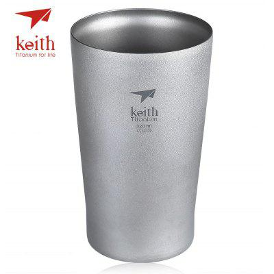Keith Ti9221 Double-wall 320mL Titanium Beer Cup Mug