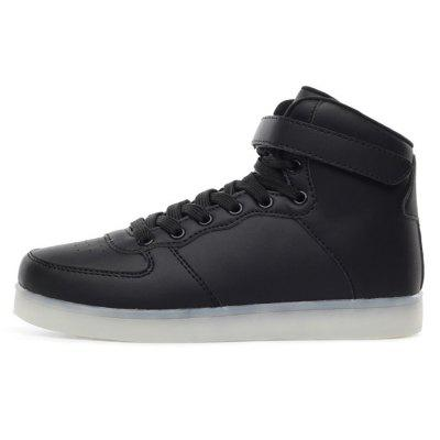 Male Handsome Fluorescence High Top Leather ShoesCasual Shoes<br>Male Handsome Fluorescence High Top Leather Shoes<br><br>Closure Type: Lace-Up, Lace-Up<br>Contents: 1 x Pair of Shoes, 1 x Pair of Shoes<br>Function: Slip Resistant, Slip Resistant<br>Materials: Rubber, Mesh, Artificial leather<br>Occasion: Party, Shopping, Outdoor Clothing, Holiday, Tea Party, Daily, Casual<br>Outsole Material: Rubber, Rubber<br>Package Size ( L x W x H ): 31.00 x 21.00 x 11.00 cm / 12.2 x 8.27 x 4.33 inches, 31.00 x 21.00 x 11.00 cm / 12.2 x 8.27 x 4.33 inches<br>Package Weights: 0.87kg, 0.87kg<br>Pattern Type: Solid<br>Seasons: Autumn,Spring<br>Style: Modern, Modern, Leisure, Fashion, Comfortable, Casual, Leisure<br>Toe Shape: Round Toe, Round Toe<br>Type: Casual Leather Shoes<br>Upper Material: Artificial leather,Mesh, Artificial leather,Mesh