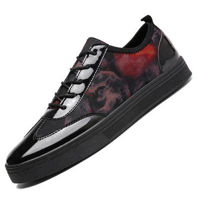 Male Fashional Casual Anti Slip Printed Lace Up Patent Leather ShoesCasual Shoes<br>Male Fashional Casual Anti Slip Printed Lace Up Patent Leather Shoes<br><br>Closure Type: Lace-Up<br>Contents: 1 x Pair of Shoes<br>Function: Slip Resistant<br>Materials: Patent Leather, Rubber, Fabric<br>Occasion: Tea Party, Shopping, Office, Holiday, Daily, Casual, Party<br>Outsole Material: Rubber<br>Package Size ( L x W x H ): 33.00 x 22.00 x 11.00 cm / 12.99 x 8.66 x 4.33 inches<br>Package Weights: 0.77kg<br>Pattern Type: Floral<br>Seasons: Autumn,Spring<br>Style: Modern, Leisure, Fashion, Comfortable, Casual<br>Toe Shape: Round Toe<br>Type: Casual Leather Shoes<br>Upper Material: Cotton Fabric,Patent Leather