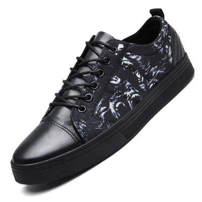 Male Stylish Casual Soft Printed Flat Lace Up Leather ShoesCasual Shoes<br>Male Stylish Casual Soft Printed Flat Lace Up Leather Shoes<br><br>Closure Type: Lace-Up<br>Contents: 1 x Pair of Shoes<br>Function: Slip Resistant<br>Materials: Leather, Rubber, Fabric<br>Occasion: Tea Party, Shopping, Office, Holiday, Daily, Casual, Party<br>Outsole Material: Rubber<br>Package Size ( L x W x H ): 33.00 x 22.00 x 11.00 cm / 12.99 x 8.66 x 4.33 inches<br>Package Weights: 0.77kg<br>Pattern Type: Floral<br>Seasons: Autumn,Spring<br>Style: Modern, Leisure, Fashion, Comfortable, Casual<br>Toe Shape: Round Toe<br>Type: Casual Leather Shoes<br>Upper Material: Cotton Fabric,Leather