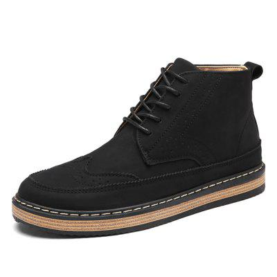Male Breathable Soft Lace Up Medium Top Retro Leather ShoesCasual Shoes<br>Male Breathable Soft Lace Up Medium Top Retro Leather Shoes<br><br>Closure Type: Lace-Up<br>Contents: 1 x Pair of Shoes<br>Function: Slip Resistant<br>Materials: Rubber, Leather<br>Occasion: Tea Party, Shopping, Office, Holiday, Daily, Casual, Party<br>Outsole Material: Rubber<br>Package Size ( L x W x H ): 33.00 x 24.00 x 13.00 cm / 12.99 x 9.45 x 5.12 inches<br>Package Weights: 0.92kg<br>Pattern Type: Solid<br>Seasons: Autumn,Spring<br>Style: Modern, Leisure, Fashion, Comfortable, Casual<br>Toe Shape: Round Toe<br>Type: Casual Leather Shoes<br>Upper Material: Leather