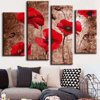 4PCS Printed Red Flowers Painting Canvas Print Room DecorPrints<br>4PCS Printed Red Flowers Painting Canvas Print Room Decor<br><br>Craft: Print<br>Form: Four Panels<br>Material: Canvas<br>Package Contents: 4 x Print<br>Package size (L x W x H): 42.00 x 8.00 x 8.00 cm / 16.54 x 3.15 x 3.15 inches<br>Package weight: 0.4000 kg<br>Painting: Without Inner Frame<br>Product size (L x W x H): 120.00 x 80.00 x 0.10 cm / 47.24 x 31.5 x 0.04 inches<br>Product weight: 0.3600 kg<br>Shape: Horizontal Panoramic<br>Style: Modern<br>Subjects: Flower<br>Suitable Space: Bedroom,Dining Room,Living Room