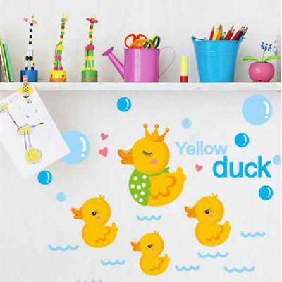 DSU Creative Adorable Ducks Home Decor Wall StickerWall Stickers<br>DSU Creative Adorable Ducks Home Decor Wall Sticker<br><br>Brand: DSU<br>Function: Decorative Wall Sticker<br>Package Contents: 1 x Sticker<br>Package size (L x W x H): 45.00 x 4.00 x 4.00 cm / 17.72 x 1.57 x 1.57 inches<br>Package weight: 0.1200 kg<br>Product size (L x W x H): 40.00 x 30.00 x 0.10 cm / 15.75 x 11.81 x 0.04 inches<br>Product weight: 0.0800 kg<br>Subjects: Animal<br>Suitable Space: Bathroom,Bedroom,Cafes,Hotel,Kids Room,Living Room<br>Type: Plane Wall Sticker