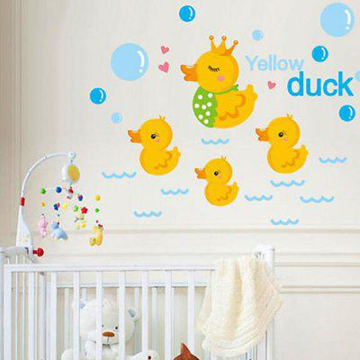 DSU Creative Adorable Ducks Home Decor Wall Sticker