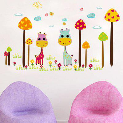 DSU Giraffe Decal Home Decoration Wall StickerWall Stickers<br>DSU Giraffe Decal Home Decoration Wall Sticker<br><br>Art Style: Plane Wall Stickers<br>Brand: DSU<br>Hang In/Stick On: Bedrooms,Kids Room,Living Rooms<br>Material: Vinyl(PVC)<br>Package Contents: 1 x Sticker<br>Package size (L x W x H): 55.00 x 5.00 x 5.00 cm / 21.65 x 1.97 x 1.97 inches<br>Package weight: 0.1300 kg<br>Product size (L x W x H): 50.00 x 70.00 x 0.10 cm / 19.69 x 27.56 x 0.04 inches<br>Product weight: 0.0900 kg