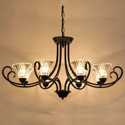 Modern Exquisite Country Iron Fashion Chandelier 220VChandelier<br>Modern Exquisite Country Iron Fashion Chandelier 220V<br><br>Battery Included: No<br>Bulb Base: E14<br>Bulb Included: No<br>Chain / Cord Adjustable or Not: Chain / Cord Adjustable<br>Chain / Cord Length ( CM ): 50cm<br>Features: Eye Protection<br>Fixture Height ( CM ): 41cm<br>Fixture Length ( CM ): 90cm<br>Fixture Width ( CM ): 90cm<br>Light Direction: Downlight<br>Number of Bulb: 8 Bulbs<br>Number of Bulb Sockets: 8<br>Package Contents: 1 x Light, 1 x Assembly Parts<br>Package size (L x W x H): 100.00 x 100.00 x 45.00 cm / 39.37 x 39.37 x 17.72 inches<br>Package weight: 11.0400 kg<br>Product weight: 10.0000 kg<br>Remote Control Supported: No<br>Shade Material: Iron, Glass<br>Style: Modern/Contemporary<br>Suggested Room Size: 20 - 30?<br>Suggested Space Fit: Bedroom,Dining Room,Kids Room,Kitchen,Living Room,Study Room<br>Type: Chandeliers<br>Voltage ( V ): AC220