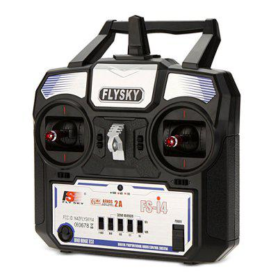 FLYSKY FS - i4 2.4GHz 4-channel RC TransmitterRadios &amp; Receiver<br>FLYSKY FS - i4 2.4GHz 4-channel RC Transmitter<br><br>Brand: Flysky<br>Channel: 4-Channels<br>Control Distance: Above 800m<br>Mode: Mode 2 (Left Hand Throttle)<br>Package Contents: 1 x FS - i4 Transmitter, 1 x FS - A6 Receiver, 1 x Bind Plug, 1 x English Instruction CD<br>Package size (L x W x H): 23.00 x 21.00 x 10.50 cm / 9.06 x 8.27 x 4.13 inches<br>Package weight: 0.6840 kg<br>Product size (L x W x H): 17.40 x 8.90 x 19.00 cm / 6.85 x 3.5 x 7.48 inches<br>Product weight: 0.3350 kg<br>Remote Control: 2.4GHz Wireless Radio Control<br>Transmitter Power: 4 x 1.5V AA (not included)<br>Type: Transmitter Receiver Set
