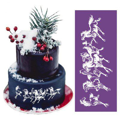 AK Horse Gallop Pattern Wedding Cake Edge Decoration Mold