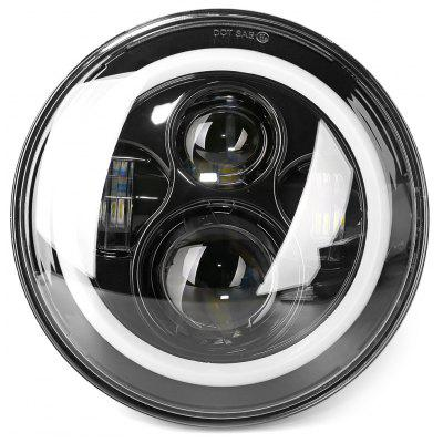 45W LED CREE 7 inch Round Headlight with Angel Eyes for Harley Davidson / Jeep Wrangler - Dragon Version