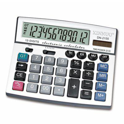 XINNUO DN - 2155 Number Calculator with Big Screen DisplayDesk Organizers<br>XINNUO DN - 2155 Number Calculator with Big Screen Display<br><br>Brand: XINNUO<br>Features: 12 digits<br>Model: DN - 2155<br>Package Contents: 1 x XINNUO DN - 2155 Number Calculator , 1 x XINNUO DN - 2155 Number Calculator<br>Package size (L x W x H): 20.20 x 18.00 x 4.60 cm / 7.95 x 7.09 x 1.81 inches, 20.20 x 18.00 x 4.60 cm / 7.95 x 7.09 x 1.81 inches<br>Package weight: 0.4450 kg, 0.4450 kg<br>Product size (L x W x H): 19.20 x 17.00 x 3.60 cm / 7.56 x 6.69 x 1.42 inches, 19.20 x 17.00 x 3.60 cm / 7.56 x 6.69 x 1.42 inches<br>Product weight: 0.0410 kg, 0.0410 kg