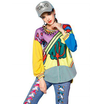 Female Loose Cartoon Printed Pattern HoodieSweatshirts &amp; Hoodies<br>Female Loose Cartoon Printed Pattern Hoodie<br><br>Material: Cotton, Polyester<br>Package Contents: 1 X Hoodie<br>Package size: 35.00 x 28.00 x 3.00 cm / 13.78 x 11.02 x 1.18 inches<br>Package weight: 0.3900 kg<br>Product weight: 0.3500 kg