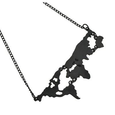 Unisex Creative Map Outline Alloy Pendant NecklaceNecklaces &amp; Pendants<br>Unisex Creative Map Outline Alloy Pendant Necklace<br><br>Jewelry Silhouette: Pendant<br>Occasions: Casual, Others<br>Package Contents: 1 x Necklace<br>Package size (L x W x H): 21.00 x 4.00 x 1.80 cm / 8.27 x 1.57 x 0.71 inches<br>Package weight: 0.0630 kg<br>Product weight: 0.0130 kg<br>Style: Fashion<br>Type: Necklaces
