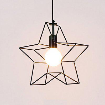 Nordic Creative Personality Five-pointed Star Pendant Light 220VPendant Light<br>Nordic Creative Personality Five-pointed Star Pendant Light 220V<br><br>Battery Included: No<br>Bulb Base: E27<br>Bulb Included: No<br>Chain / Cord Adjustable or Not: Chain / Cord Adjustable<br>Chain / Cord Length ( CM ): 130cm<br>Features: Eye Protection<br>Fixture Height ( CM ): 30cm<br>Fixture Length ( CM ): 30cm<br>Fixture Width ( CM ): 15cm<br>Light Direction: Downlight<br>Number of Bulb: 1 Bulb<br>Number of Bulb Sockets: 1<br>Package Contents: 1 x Light, 1 x Assembly Parts<br>Package size (L x W x H): 31.00 x 18.00 x 31.00 cm / 12.2 x 7.09 x 12.2 inches<br>Package weight: 0.4300 kg<br>Product weight: 0.2000 kg<br>Remote Control Supported: No<br>Shade Material: Iron<br>Style: Modern/Contemporary<br>Suggested Room Size: 10 - 15?<br>Suggested Space Fit: Bedroom,Kids Room,Study Room<br>Type: Pendant Light<br>Voltage ( V ): AC220