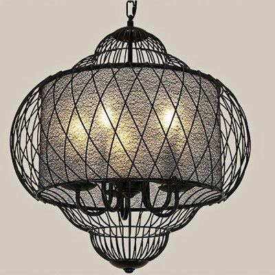 New Chinese Classical Iron Bird Cage Chandelier 220V