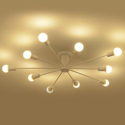 BRELONG Iron Arm Minimalist Ceiling Chandelier 220 - 240VChandelier<br>BRELONG Iron Arm Minimalist Ceiling Chandelier 220 - 240V<br><br>Battery Included: No<br>Brand: BRELONG<br>Bulb Base: E27<br>Bulb Included: Yes<br>Chain / Cord Length ( CM ): 17cm<br>Features: Eye Protection<br>Fixture Height ( CM ): 17cm<br>Fixture Length ( CM ): 120cm<br>Fixture Width ( CM ): 20cm<br>Light Direction: Downlight<br>Number of Bulb: 10 Bulbs<br>Number of Bulb Sockets: 10<br>Package Contents: 1 x 10 Head Chandelier,  10 x E27 Bulb<br>Package size (L x W x H): 63.00 x 39.00 x 18.00 cm / 24.8 x 15.35 x 7.09 inches<br>Package weight: 3.0300 kg<br>Product weight: 2.6000 kg<br>Remote Control Supported: No<br>Shade Material: Hardware<br>Style: Modern/Contemporary<br>Suggested Room Size: 10 - 15?<br>Suggested Space Fit: Bathroom,Bedroom,Dining Room,Kitchen,Living Room,Study Room<br>Type: Chandeliers<br>Voltage ( V ): 220V - 240V