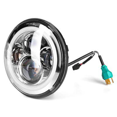 7 inch CREE 45W Round LED Headlights - Dragon VersionCar Lights<br>7 inch CREE 45W Round LED Headlights - Dragon Version<br><br>Adaptable automobile mode: Harley Davidson, Jeep<br>Apply lamp position : External Lights<br>Color temperatures: 6000K<br>Connector: Cable Connector<br>Lumens: 6200LM<br>Package Contents: 1 x 7 inch CREE 45W Round LED Headlights - Dragon Version<br>Package size (L x W x H): 21.00 x 21.00 x 14.00 cm / 8.27 x 8.27 x 5.51 inches<br>Package weight: 1.5300 kg<br>Product size (L x W x H): 17.80 x 17.80 x 9.00 cm / 7.01 x 7.01 x 3.54 inches<br>Product weight: 1.3000 kg