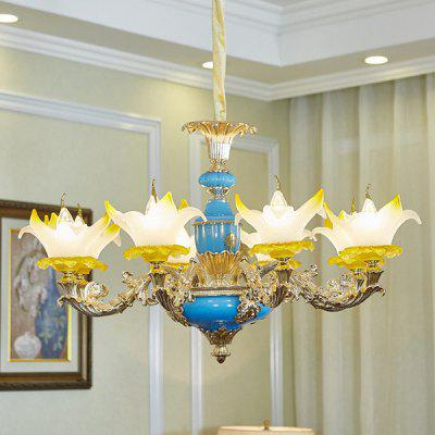 French Crystal Zinc Alloy European Chandelier 220VChandelier<br>French Crystal Zinc Alloy European Chandelier 220V<br><br>Battery Included: No<br>Bulb Base: E14<br>Bulb Included: No<br>Chain / Cord Adjustable or Not: Chain / Cord Adjustable<br>Chain / Cord Length ( CM ): 100cm<br>Features: Eye Protection<br>Fixture Height ( CM ): 52cm<br>Fixture Length ( CM ): 86cm<br>Fixture Width ( CM ): 86cm<br>Light Direction: Downlight<br>Number of Bulb: 8 Bulbs<br>Number of Bulb Sockets: 8<br>Package Contents: 1 x Light, 1 x Assembly Parts<br>Package size (L x W x H): 96.00 x 96.00 x 57.00 cm / 37.8 x 37.8 x 22.44 inches<br>Package weight: 13.0500 kg<br>Product weight: 12.0000 kg<br>Remote Control Supported: No<br>Shade Material: Glass, Aluminum Alloy<br>Style: Modern/Contemporary<br>Suggested Room Size: 20 - 30?<br>Suggested Space Fit: Bedroom,Dining Room,Kitchen,Living Room,Study Room<br>Type: Chandeliers<br>Voltage ( V ): AC220
