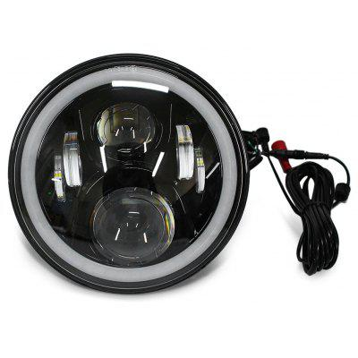 7 inch 60W CREE LED Headlight with RGB Angel Eyes for Jeep Wrangler