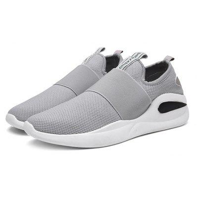 Masculino Casual Respirável Soft Knitted Slip On Sneakers
