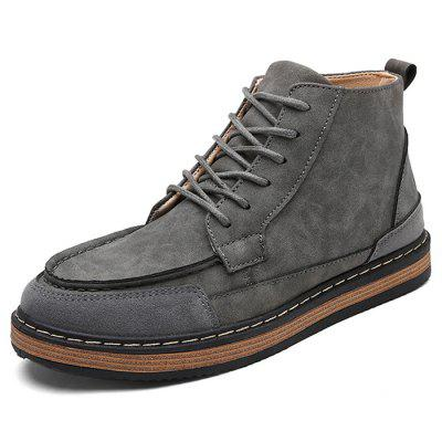 Male Casual Soft Lace Up Medium Top Retro Leather ShoesCasual Shoes<br>Male Casual Soft Lace Up Medium Top Retro Leather Shoes<br><br>Closure Type: Lace-Up<br>Contents: 1 x Pair of Shoes<br>Function: Slip Resistant<br>Materials: Rubber, Leather<br>Occasion: Tea Party, Shopping, Office, Holiday, Daily, Casual, Party<br>Outsole Material: Rubber<br>Package Size ( L x W x H ): 33.00 x 24.00 x 13.00 cm / 12.99 x 9.45 x 5.12 inches<br>Package Weights: 0.92kg<br>Pattern Type: Solid<br>Seasons: Autumn,Spring<br>Style: Modern, Leisure, Fashion, Comfortable, Casual<br>Toe Shape: Round Toe<br>Type: Casual Leather Shoes<br>Upper Material: Leather