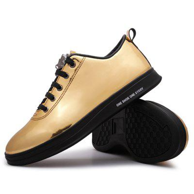 Male Casual Soft Anti Slip Pattern Glossy Leather ShoesCasual Shoes<br>Male Casual Soft Anti Slip Pattern Glossy Leather Shoes<br><br>Closure Type: Lace-Up<br>Contents: 1 x Pair of Shoes<br>Function: Slip Resistant<br>Materials: Rubber, Leather<br>Occasion: Tea Party, Party, Office, Holiday, Daily, Casual, Shopping<br>Outsole Material: Rubber<br>Package Size ( L x W x H ): 33.00 x 22.00 x 11.00 cm / 12.99 x 8.66 x 4.33 inches<br>Package Weights: 0.82kg<br>Seasons: Autumn,Spring<br>Style: Modern, Leisure, Fashion, Comfortable, Casual<br>Toe Shape: Round Toe<br>Type: Casual Leather Shoes<br>Upper Material: Leather