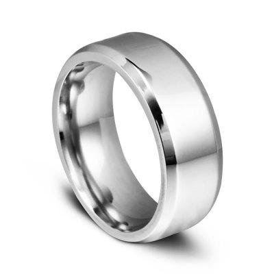 Unisex 8mm titanium stalen ring