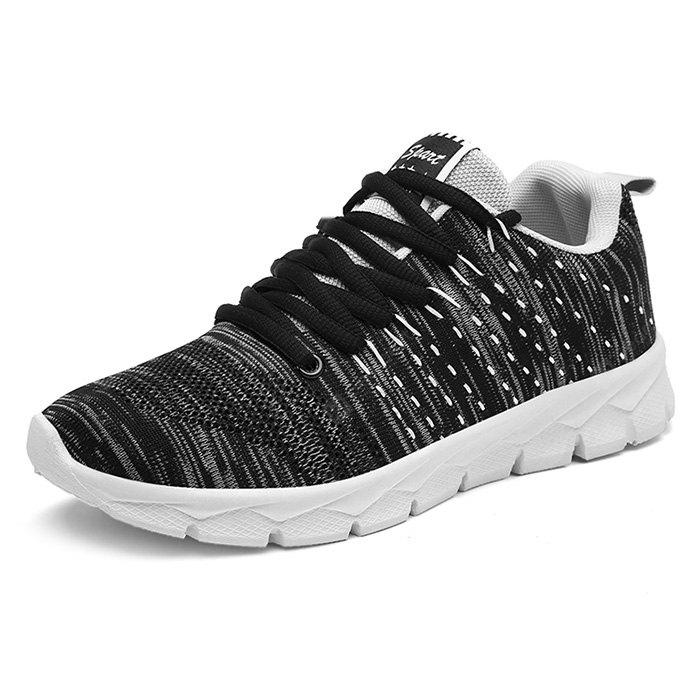 Masculino respirável Casual Soft Light Knitted Sneakers