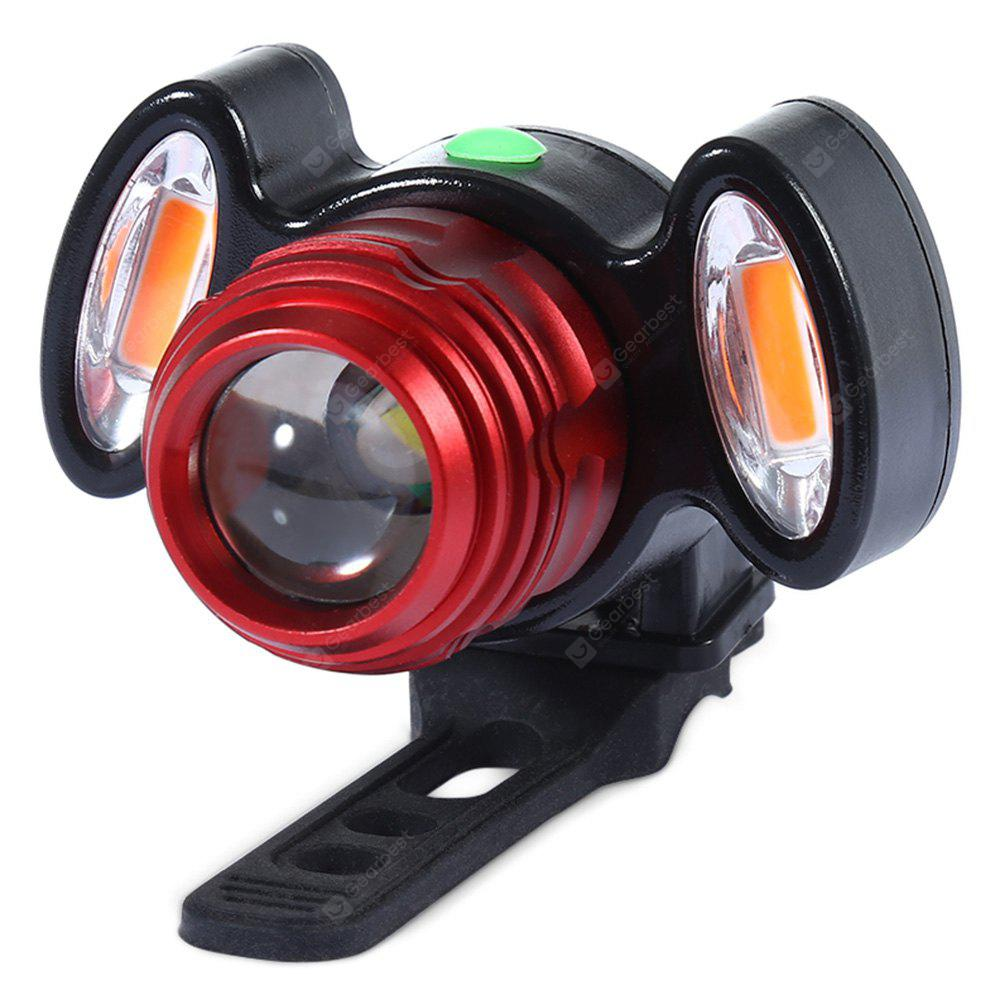Waterproof USB Bike Bicycle Front Light T6 Beam LED Torch