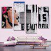 4PCS Printed Western Style Painting Canvas Print - COLORMIX
