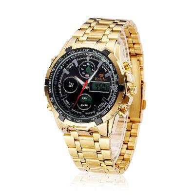 Kaletco F8602G Stainless Steel Band Sports Men WatchMens Watches<br>Kaletco F8602G Stainless Steel Band Sports Men Watch<br><br>Band material: Stainless Steel<br>Band size: 24 x 2cm<br>Brand: Kaletco<br>Case material: Alloy<br>Clasp type: Butterfly clasp<br>Dial size: 4.2 x 4.2 x 1.4cm<br>Display type: Analog-Digital<br>Movement type: Quartz + digital watch<br>Package Contents: 1 x Watch<br>Package size (L x W x H): 26.00 x 6.20 x 3.50 cm / 10.24 x 2.44 x 1.38 inches<br>Package weight: 0.1900 kg<br>Product size (L x W x H): 24.00 x 4.20 x 1.50 cm / 9.45 x 1.65 x 0.59 inches<br>Product weight: 0.1500 kg<br>Shape of the dial: Round<br>Watch mirror: Acrylic<br>Watch style: Trends in outdoor sports<br>Watches categories: Men
