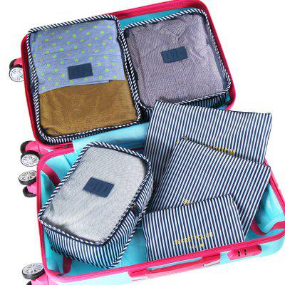 6-piece Set Travel Clothing Organizer Storage BagOther Sports Gadgets<br>6-piece Set Travel Clothing Organizer Storage Bag<br><br>For: Business Trip, Travel<br>Package Contents: 1 x 6-piece Organizer Bag Set<br>Package size (L x W x H): 42.00 x 33.00 x 3.00 cm / 16.54 x 12.99 x 1.18 inches<br>Package weight: 0.3500 kg<br>Product weight: 0.3100 kg<br>Season: All seasons
