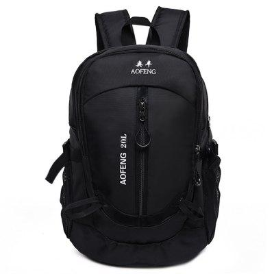 AOFENG Multifunctional Water-resistant Male BackpackBackpacks<br>AOFENG Multifunctional Water-resistant Male Backpack<br><br>Brand: AOFENG<br>Features: Wearable<br>Gender: Men<br>Material: Polyester<br>Package Size(L x W x H): 40.00 x 25.00 x 2.50 cm / 15.75 x 9.84 x 0.98 inches<br>Package weight: 0.3500 kg<br>Packing List: 1 x AOFENG Backpack<br>Product weight: 0.2900 kg<br>Style: Fashion, Casual<br>Type: Backpacks