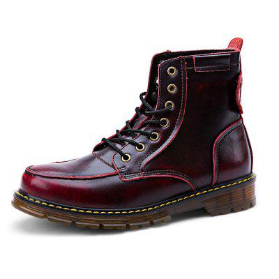Male Casual Soft High Top Leather Martin BootsMens Boots<br>Male Casual Soft High Top Leather Martin Boots<br><br>Closure Type: Lace-Up<br>Contents: 1 x Pair of Shoes<br>Materials: Leather, TPR<br>Occasion: Tea Party, Shopping, Party, Outdoor Clothing, Office, Holiday, Formal, Daily, Casual<br>Outsole Material: TPR<br>Package Size ( L x W x H ): 33.00 x 24.00 x 13.00 cm / 12.99 x 9.45 x 5.12 inches<br>Package Weights: 1.12kg<br>Pattern Type: Solid<br>Seasons: Autumn,Spring<br>Style: Modern, Leisure, Formal, Fashion, Comfortable, Casual, Business<br>Toe Shape: Round Toe<br>Type: Boots<br>Upper Material: Leather
