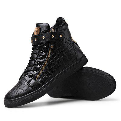 Male Stylish Soft Zipper Buckle Strap Lace Up Leisure BootsCasual Shoes<br>Male Stylish Soft Zipper Buckle Strap Lace Up Leisure Boots<br><br>Closure Type: Buckle Strap, Zip, Zip, Lace-Up, Buckle Strap, Lace-Up<br>Contents: 1 x Pair of Shoes, 1 x Pair of Shoes<br>Decoration: Zippers, Zippers<br>Function: Slip Resistant, Slip Resistant<br>Materials: Rubber, PU<br>Occasion: Tea Party, Tea Party, Shopping, Party, Office, Holiday, Daily, Casual<br>Package Size ( L x W x H ): 33.00 x 24.00 x 13.00 cm / 12.99 x 9.45 x 5.12 inches, 33.00 x 24.00 x 13.00 cm / 12.99 x 9.45 x 5.12 inches<br>Package Weights: 0.97kg, 0.97kg<br>Pattern Type: Solid<br>Seasons: Autumn,Spring, Autumn,Spring<br>Style: Casual, Casual, Comfortable, Modern, Fashion, Fashion, Leisure, Comfortable, Modern, Leisure<br>Type: Boots<br>Upper Material: PU, PU