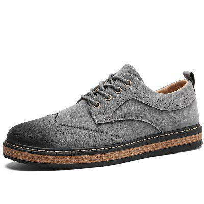 Male Casual Hollow Gradient Round Toe Leather ShoesCasual Shoes<br>Male Casual Hollow Gradient Round Toe Leather Shoes<br><br>Closure Type: Lace-Up<br>Contents: 1 x Pair of Shoes<br>Decoration: Hollow Out<br>Function: Slip Resistant<br>Materials: Rubber, Leather<br>Occasion: Tea Party, Party, Office, Casual, Shopping, Daily, Holiday<br>Outsole Material: Rubber<br>Package Size ( L x W x H ): 33.00 x 24.00 x 13.00 cm / 12.99 x 9.45 x 5.12 inches<br>Package Weights: 0.92kg<br>Pattern Type: Solid<br>Seasons: Autumn,Spring<br>Style: Modern, Leisure, Fashion, Comfortable, Casual, Business<br>Toe Shape: Round Toe<br>Type: Casual Leather Shoes<br>Upper Material: Leather