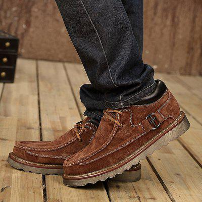 Male Soft Medium Top Thickened Retro Leather ShoesCasual Shoes<br>Male Soft Medium Top Thickened Retro Leather Shoes<br><br>Closure Type: Lace-Up<br>Contents: 1 x Pair of Shoes<br>Function: Slip Resistant<br>Materials: Rubber, Patent Leather<br>Occasion: Tea Party, Shopping, Outdoor Clothing, Office, Holiday, Daily, Casual, Party<br>Outsole Material: Rubber<br>Package Size ( L x W x H ): 33.00 x 24.00 x 13.00 cm / 12.99 x 9.45 x 5.12 inches<br>Package Weights: 1.12kg<br>Seasons: Autumn,Spring,Winter<br>Style: Modern, Leisure, Fashion, Comfortable, Casual<br>Toe Shape: Round Toe<br>Type: Casual Leather Shoes<br>Upper Material: Patent Leather