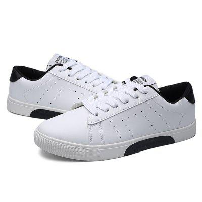 Male Casual Breathable Anti Slip Flat Leather SneakersCasual Shoes<br>Male Casual Breathable Anti Slip Flat Leather Sneakers<br><br>Closure Type: Lace-Up<br>Contents: 1 x Pair of Shoes<br>Decoration: Split Joint<br>Function: Slip Resistant<br>Materials: Rubber, Leather<br>Occasion: Tea Party, Sports, Party, Office, Casual, Shopping, Daily, Holiday<br>Outsole Material: Rubber<br>Package Size ( L x W x H ): 33.00 x 22.00 x 11.00 cm / 12.99 x 8.66 x 4.33 inches<br>Package Weights: 0.77kg<br>Pattern Type: Solid<br>Seasons: Autumn,Spring<br>Style: Modern, Leisure, Fashion, Comfortable, Casual<br>Toe Shape: Round Toe<br>Type: Casual Leather Shoes<br>Upper Material: Leather