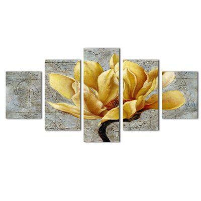 5PCS Modern Golden Flower Canvas Prints Home Decor Picture Artwork Unframed Wall Art Painting
